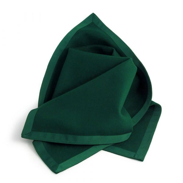 Green Baize Bridge Cloth with Green Petersham Edging