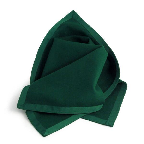 Green Baize Bridge Cloth with Green Petersham Edging