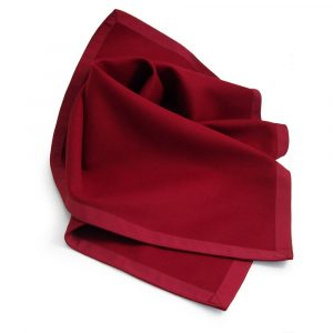 Burgundy Baize Bridge Cloth with Burgundy Petersham Edging