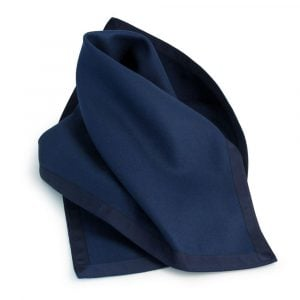 Navy Baize Bridge Cloth with Navy Petersham Edging