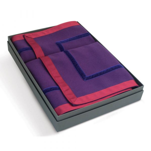 Penhallow's Bridge Cloth - Heather and Campion Colourway in a Handmade Presentation Box