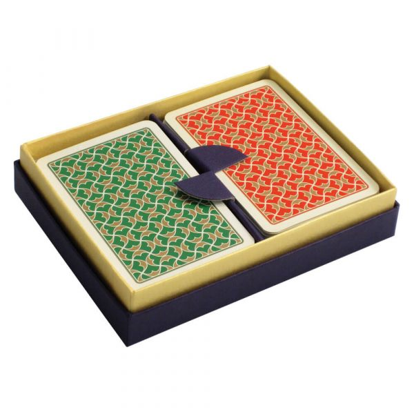 Helios Playing Cards Green and Red