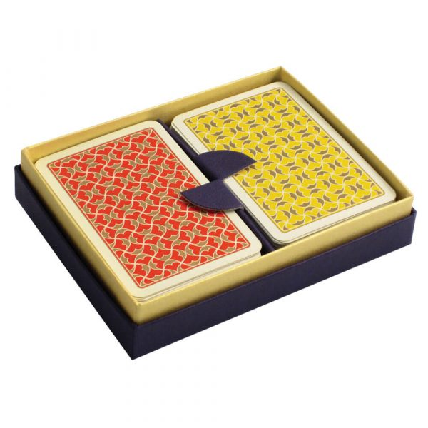 Helios Playing Cards Red and Yellow