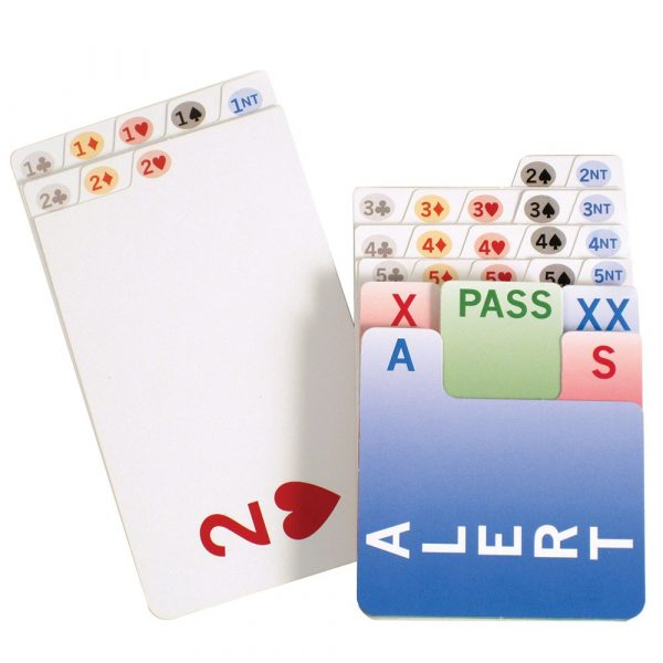 left handed bidding cards - bridge bidding cards