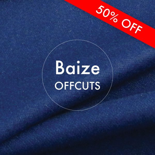 Navy Blue Baize Remnants Offcuts 50% off