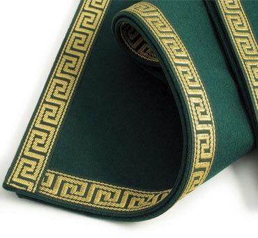 Baize Bridge Cloth with Greek Key Border