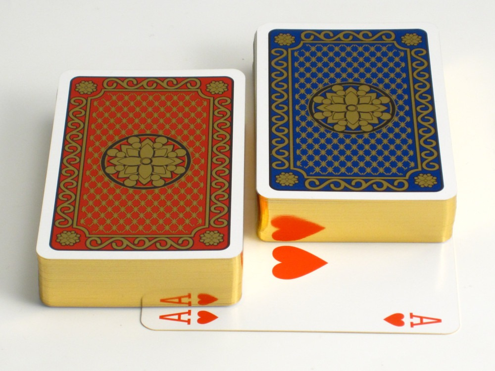 Luxury Playing Cards with Gilt Edges
