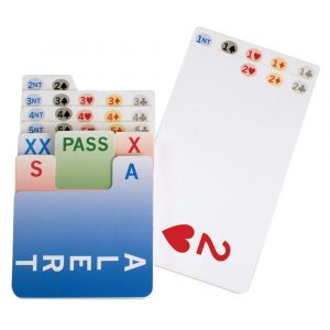 right handed bridge bidding cards