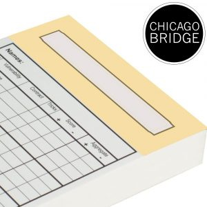 Replacement Chicago Bridge Score Cards - Vanilla Trim