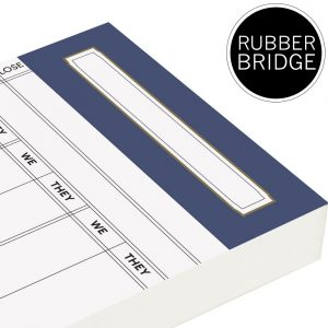 Spare Rubber Bridge Score Cards - Petrol Blue Trim