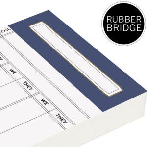 Spare Rubber Bridge Score Cards - Petrol Blue Trim