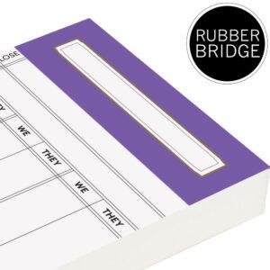 Spare Rubber Bridge Score Cards - Purple Trim