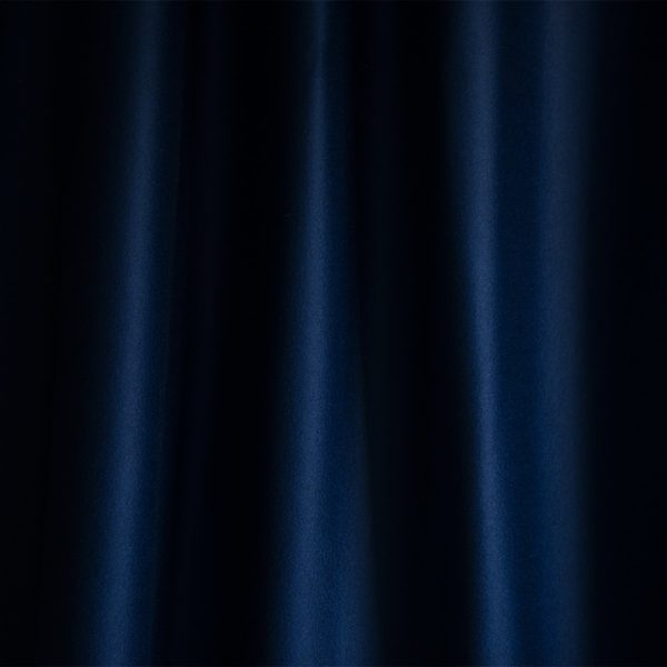 Penhallow's 100 percent merino wool navy blue ruffled