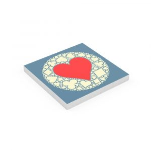 Square Notepad Plain Paper Batik Heart Suit Symbol