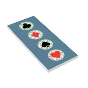 Long Paper Notepad Batik Four Suit Symbols