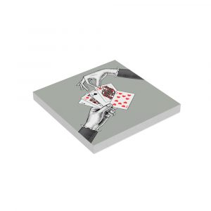 Square Paper Notepad Queen of Diamonds