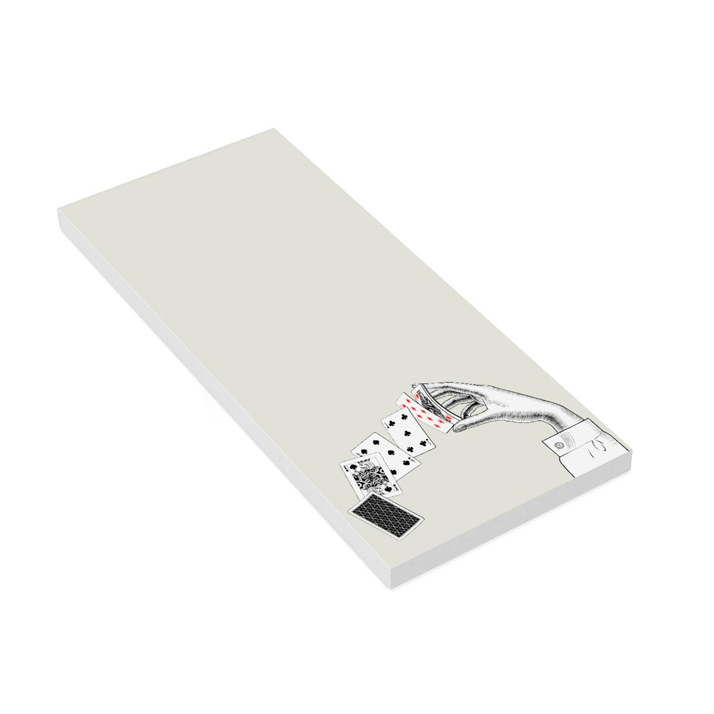 Plain Paper Notepad Long - 52 Card Pick Up
