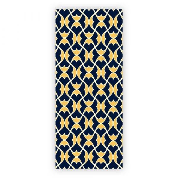 Helios blue yellow long notepad cover detail