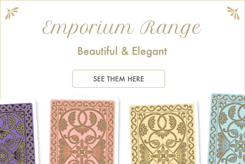 Emporium Range Playing Cards - Beautiful and Elegant. See them here