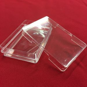 clear plastic playing card storage box