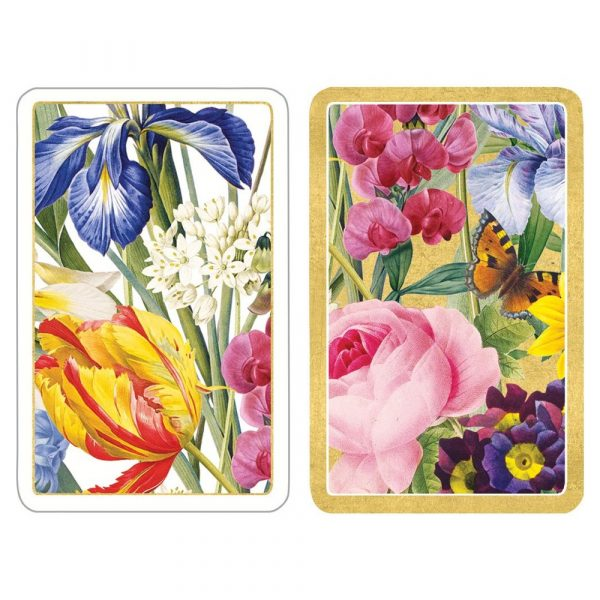 caspari Rredoute floral playing cards
