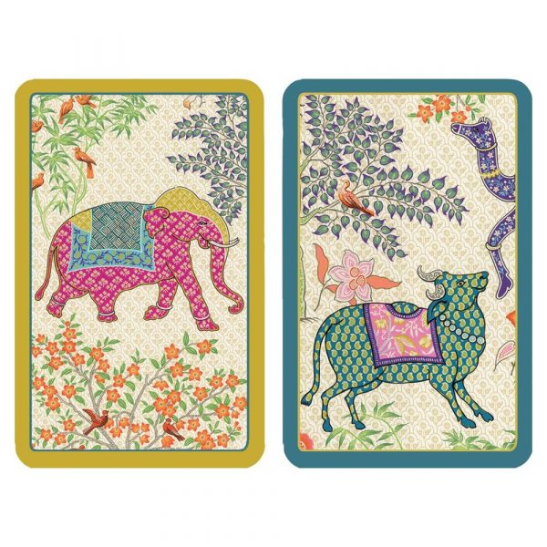 caspari le jardin de mysore playing cards
