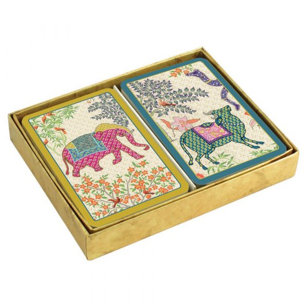caspari le jardin de mysore presentation boxed playing cards