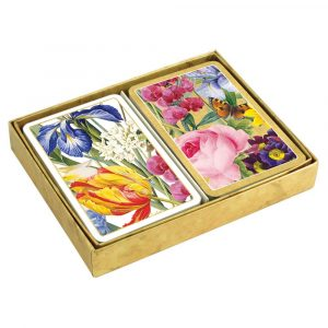 caspari redoute floral presentation boxed playing cards