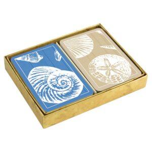 caspari shells presentation boxed playing cards
