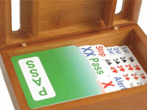 wooden bidding boxes