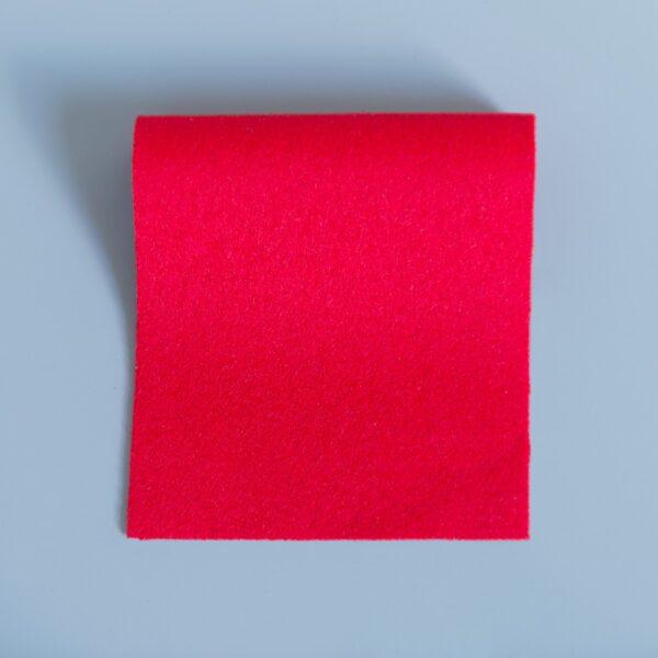 100% Merino Wool Baize Bright Red
