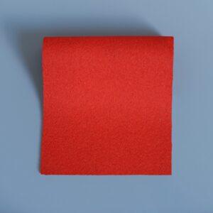 100% Merino Wool Baize Bright Scarlet