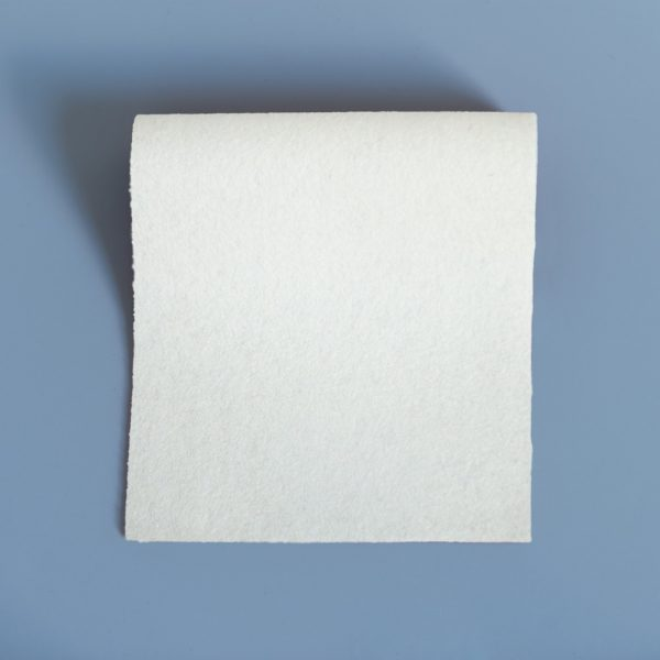 100% Merino Wool Baize White