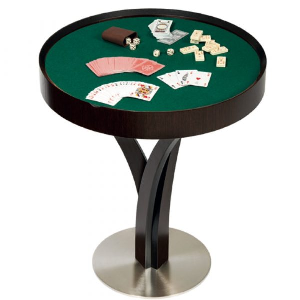 dal negro gorgone games table with playing cards and dice