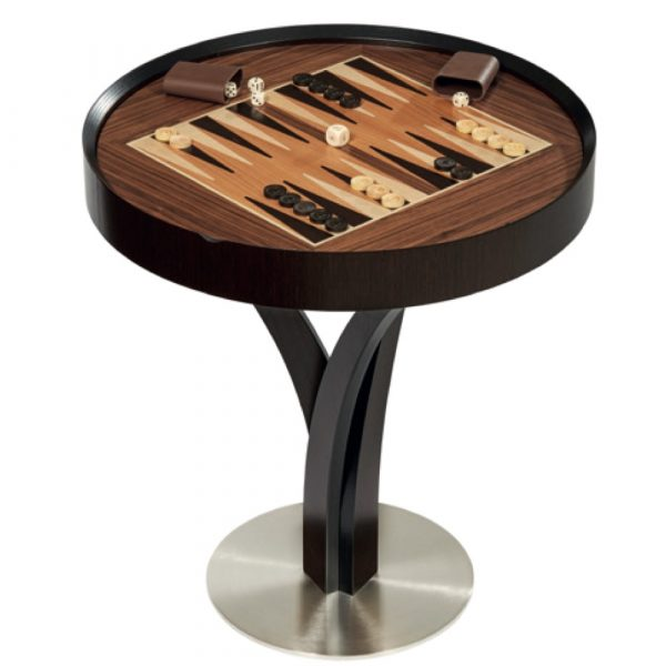 dal negro gorgone luxury games table with backgammon