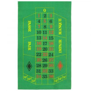 Felt Roulette Layout Cloth