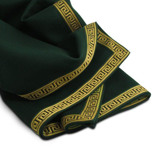 extra large greek key cedar green wool baize cloth
