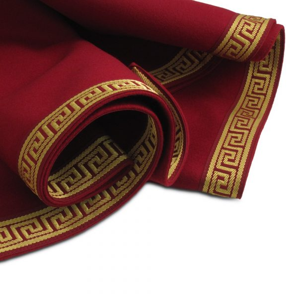 extra large greek key burgundy red wool baize cloth