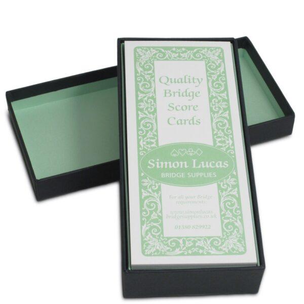 rubber bridge score cards in gift box