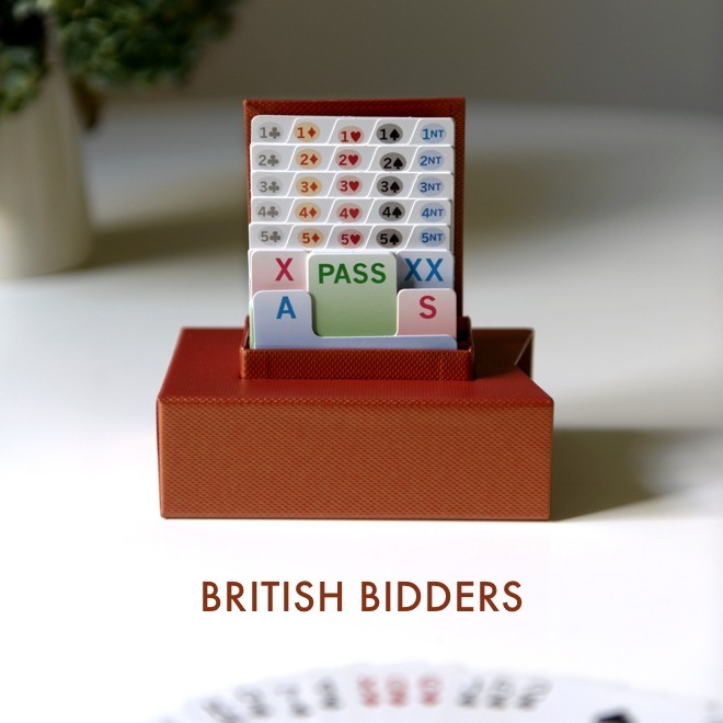 Click to see our handmade British Bidder bidding boxes
