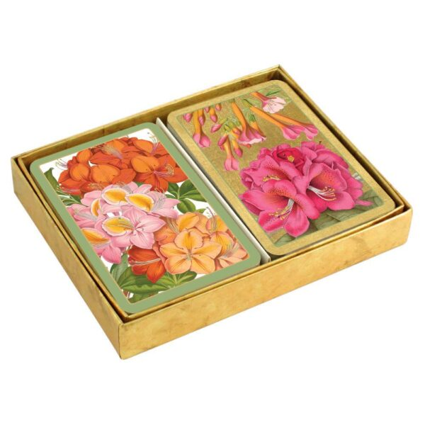 caspari collectible bridge playing cards jeffersons garden boxed