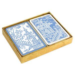 caspari collectible bridge playing cards pagoda toile boxed