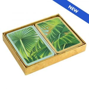 caspari palm fronds boxed new
