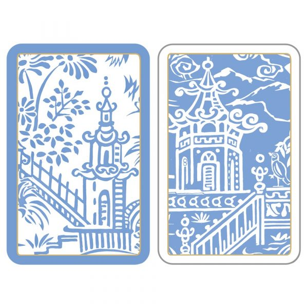 caspari pergola toile playing cards