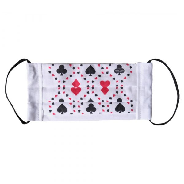 playing card suit symbols face mask
