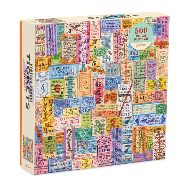 Vintage Travel Tickets Jigsaw Puzzle