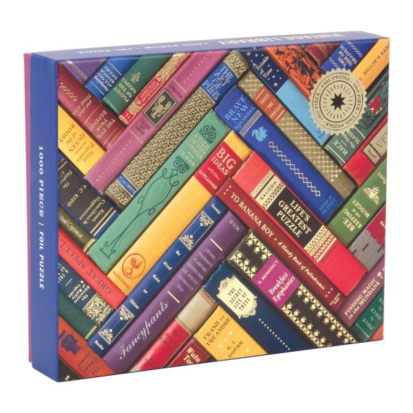 Phat Dog Vintage Library 1000 Piece Foil Stamped jigsaw Puzzle