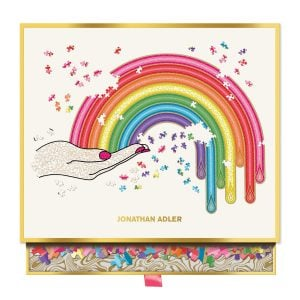 Jonathan Adler Rainbow Hand 750 Piece Shaped Jigsaw Puzzle