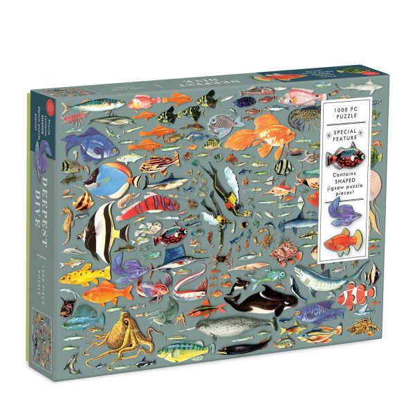 Ben Giles Deepest Dive 1000 Piece Jigsaw Puzzle with Shaped Pieces