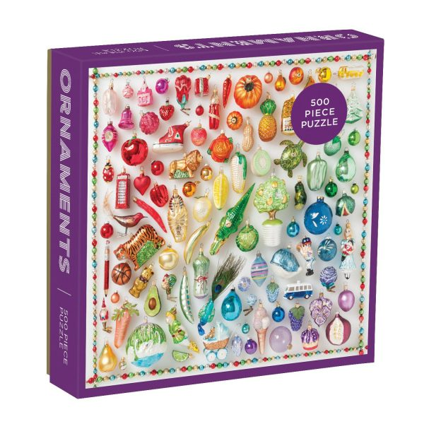 Julie Seabrook Rainbow Ornaments 500-Piece Jigsaw Puzzle